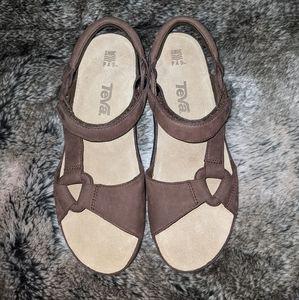Teva Women's Brown Leather Sandals